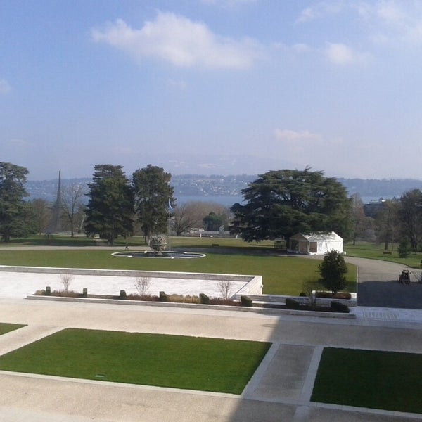 Photo taken at Palais des Nations by Brahms on 3/6/2014