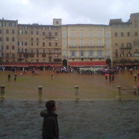 Photo taken at Piazza del Campo by Vittorio C. on 3/30/2013