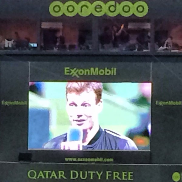 Photo taken at Qatar Tennis Federation by Mustapha H. on 1/3/2014