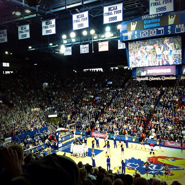 Photo taken at Allen Fieldhouse by Zach H. on 2/2/2013