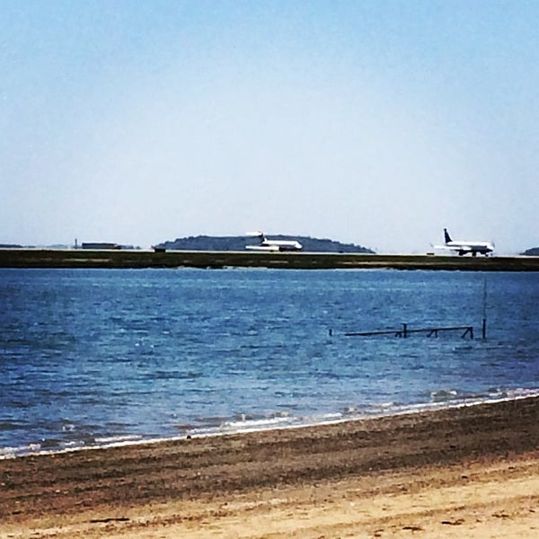 Photo taken at Constitution Beach by Zac M. on 6/1/2014