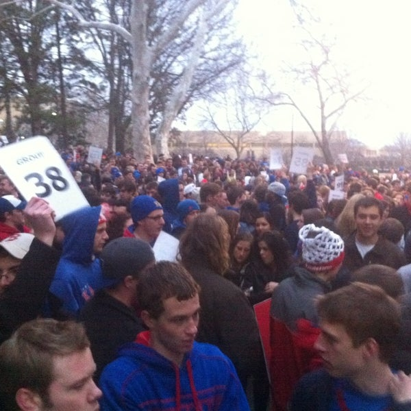 Photo taken at Allen Fieldhouse by Noah B. on 2/17/2013