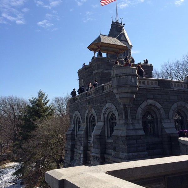 Photo taken at Belvedere Castle by Jen F. on 3/8/2014
