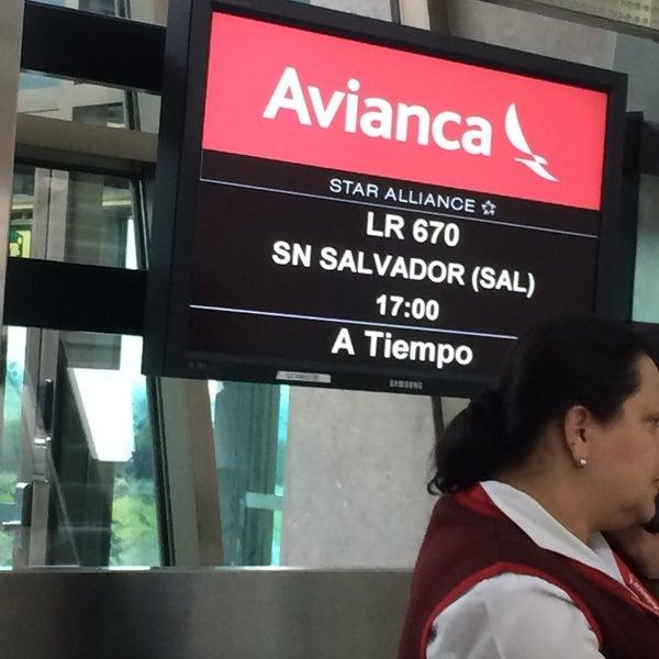 Photo taken at Gate 5 Aeropuerto Internacional Juan Santamaria by Davide M. on 8/16/2014