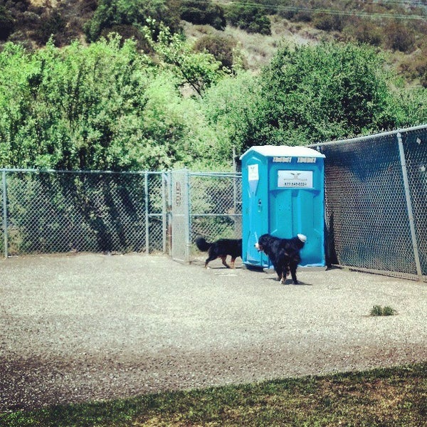 Photo taken at Laguna Canyon Dog Park by Michelle F. on 5/4/2013