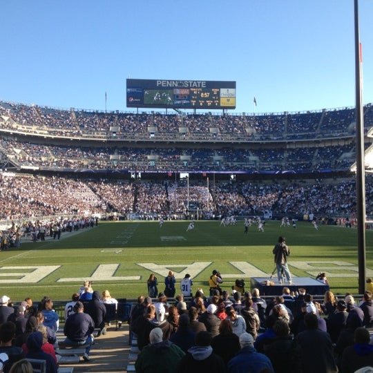 Photo taken at Beaver Stadium by Ryan O. on 11/17/2012