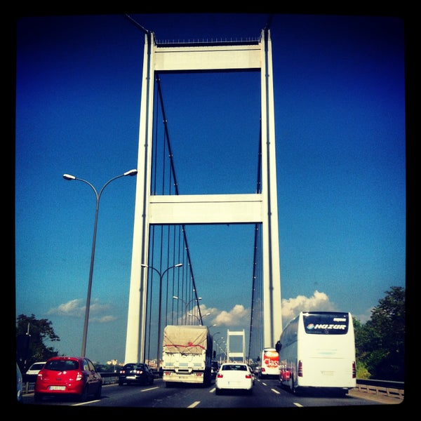 Photo taken at Fatih Sultan Mehmet Bridge by NİLÜFER on 5/15/2013