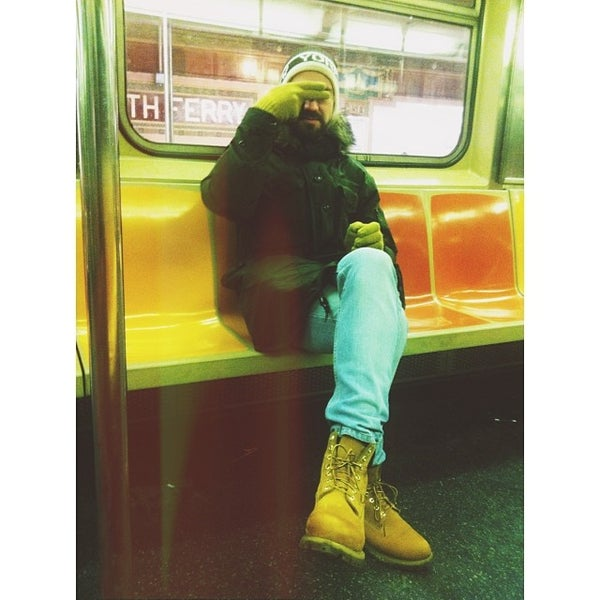 Photo taken at MTA Subway - South Ferry (1) by Ksenia S. on 1/7/2014
