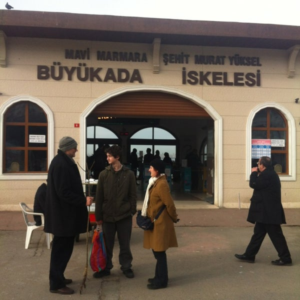 Photo taken at Büyükada Mavi Marmara Motor İskelesi by Elif K. on 2/2/2013