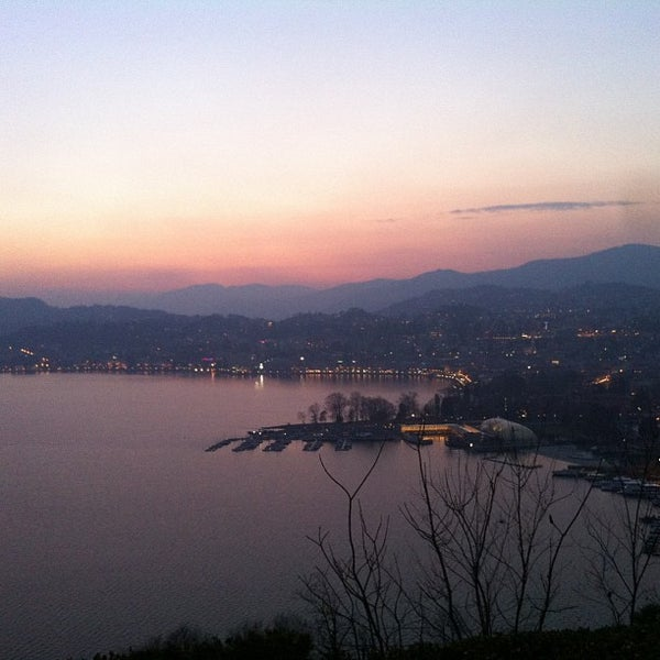 Photo taken at Lago di Lugano by Michela B. on 2/17/2013