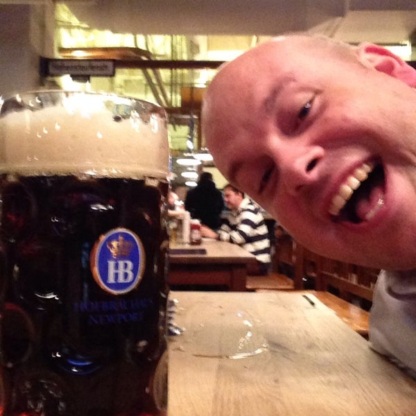Photo taken at Hofbräuhaus Newport by Warren F. on 2/12/2014