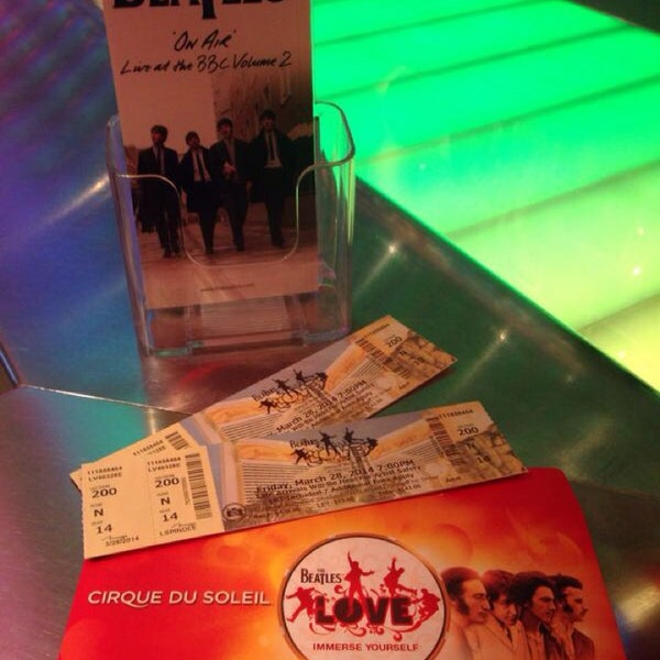 Photo taken at The Beatles LOVE (Cirque Du Soleil) by Mércia F. on 3/29/2014