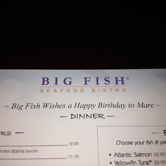 Big fish seafood bistro princeton nj for Big fish happy hour