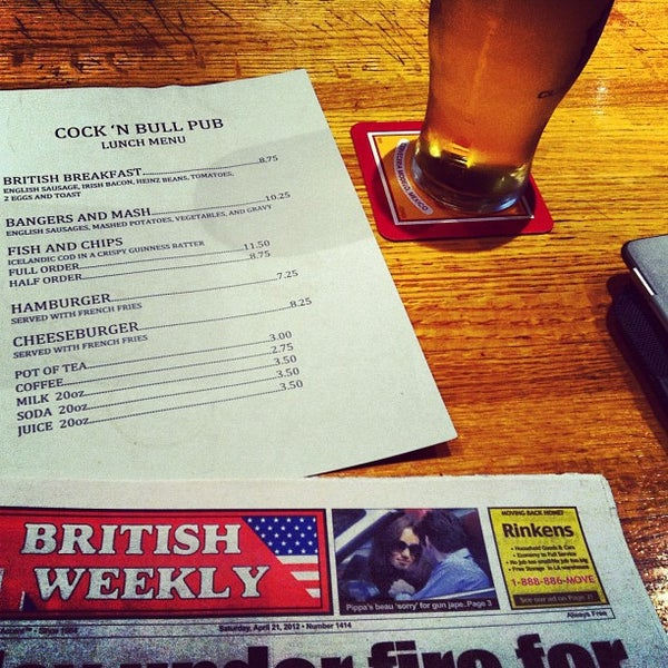 Photo taken at Cock and Bull by Joshua V. on 4/21/2012