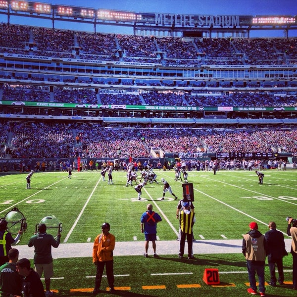 Photo taken at MetLife Stadium by Sam T. on 10/20/2013