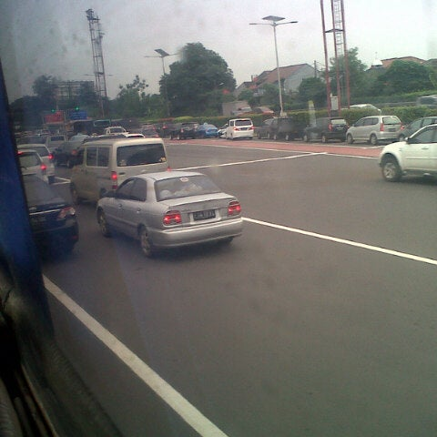 Photo taken at Gerbang Tol Cililitan by sifa l. on 2/6/2014