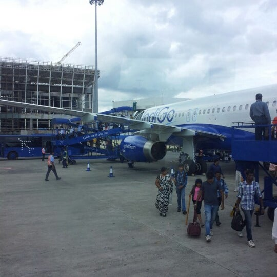 Photo taken at Netaji Subhash Chandra Bose International Airport (CCU) by Soumya D. on 10/10/2012