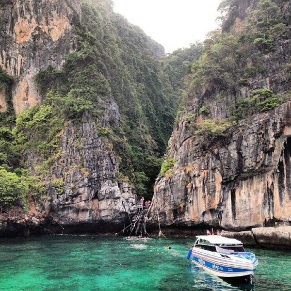 Photo taken at Phi Phi Island by Helga on 1/12/2013