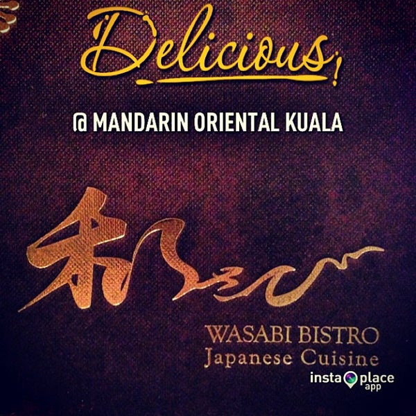 Photo taken at Wasabi Bistro at at Mandarin Oriental, Kuala Lumpur by Edwin W. on 2/20/2013