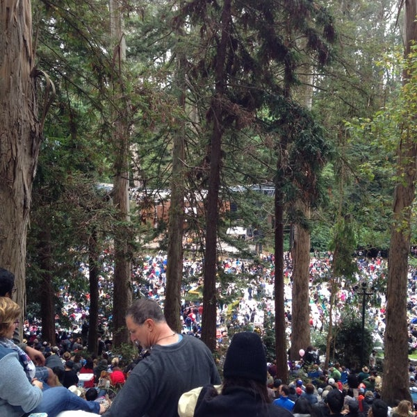 Photo taken at Sigmund Stern Grove by Riad on 8/11/2013