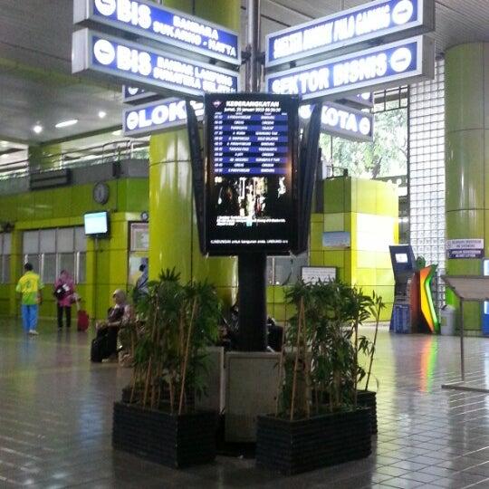 Photo taken at Stasiun Gambir by Emelda J. on 1/25/2013