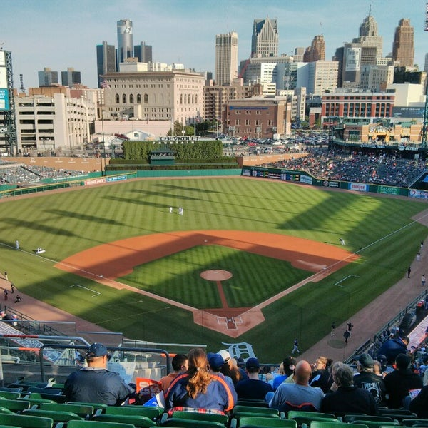 Photo taken at Comerica Park by Andrew V. on 6/4/2013