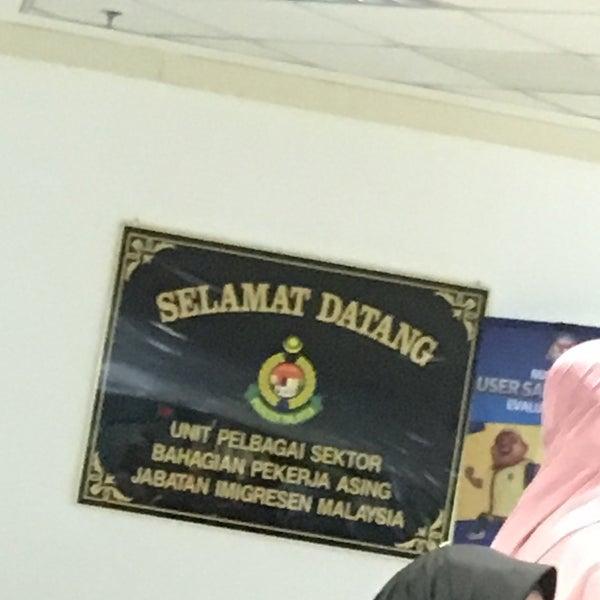 Photo taken at Jabatan Imigresen Malaysia by Saiful Nizam D. on 9/15/2016