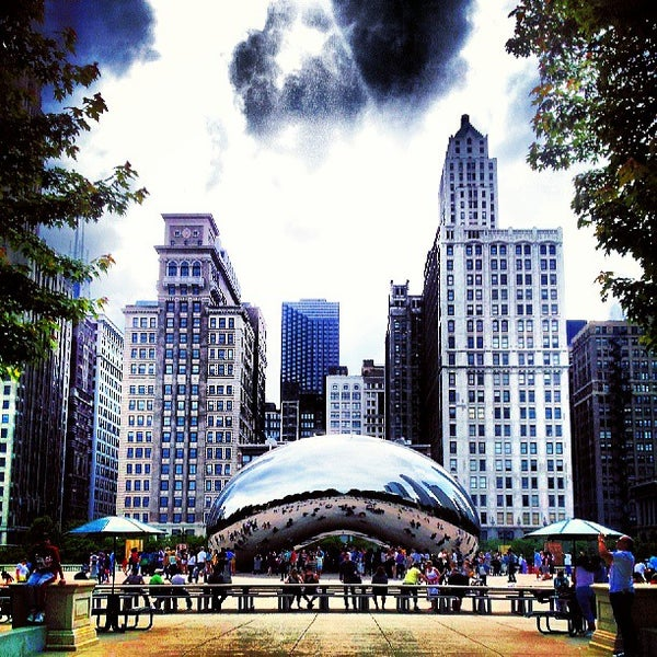 Photo taken at Cloud Gate by David B. on 6/9/2013