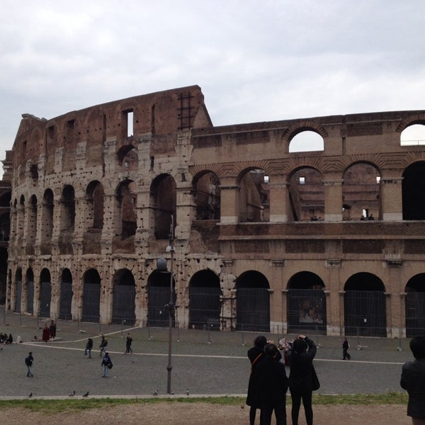 Photo taken at Piazza del Colosseo by Rick on 3/11/2014