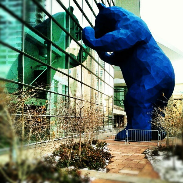 Photo taken at Big Blue Bear (I See What You Mean) by Ron M. on 1/1/2013