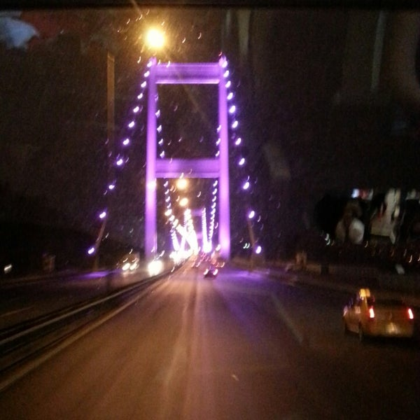 Photo taken at Fatih Sultan Mehmet Bridge by Merve S. on 10/4/2013