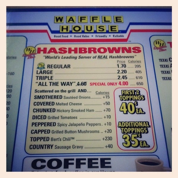 Photo taken at Waffle House by Rachel H. on 11/8/2013
