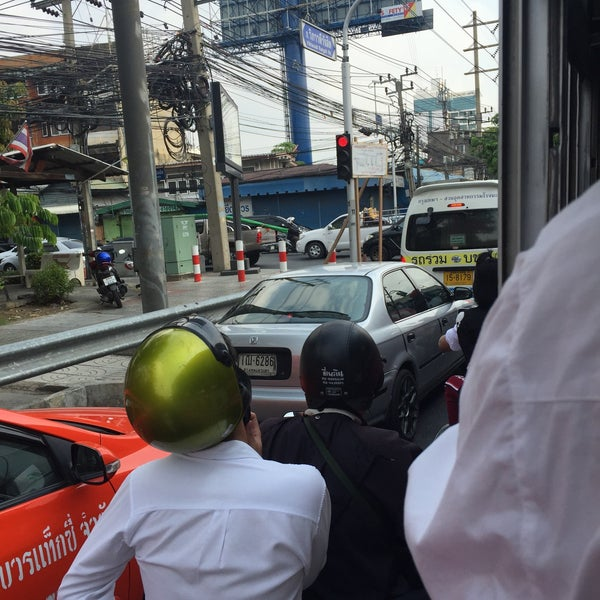 Photo taken at Sutthisan Intersection by Thosaphon C. on 4/26/2016
