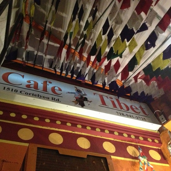 Photo taken at Cafe Tibet by Elizabeth P. on 2/19/2014