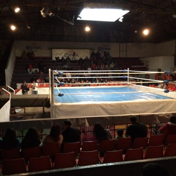 Photo taken at Arena Adolfo Lopez Mateos by Ivan on 12/14/2014