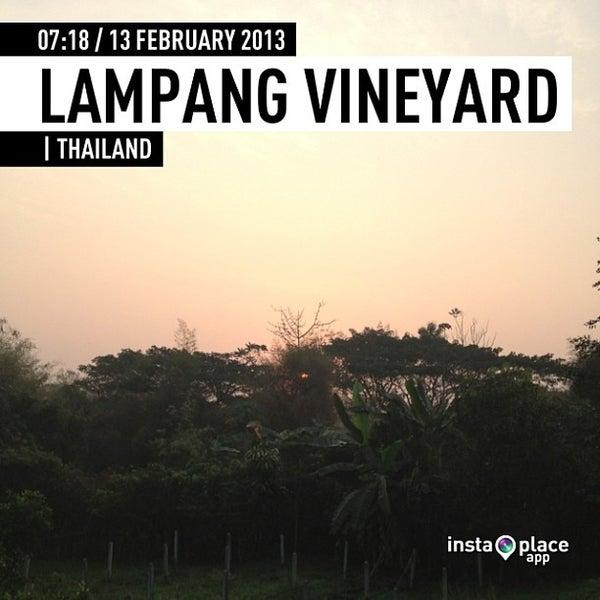 Photo taken at Lampang Vineyard by Jesada K. on 2/13/2013
