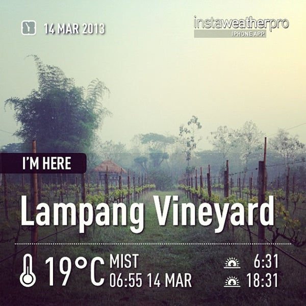 Photo taken at Lampang Vineyard by Jesada K. on 3/13/2013