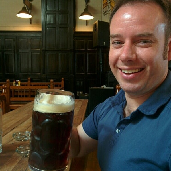 Photo taken at Hofbräuhaus Newport by John H. on 6/18/2014