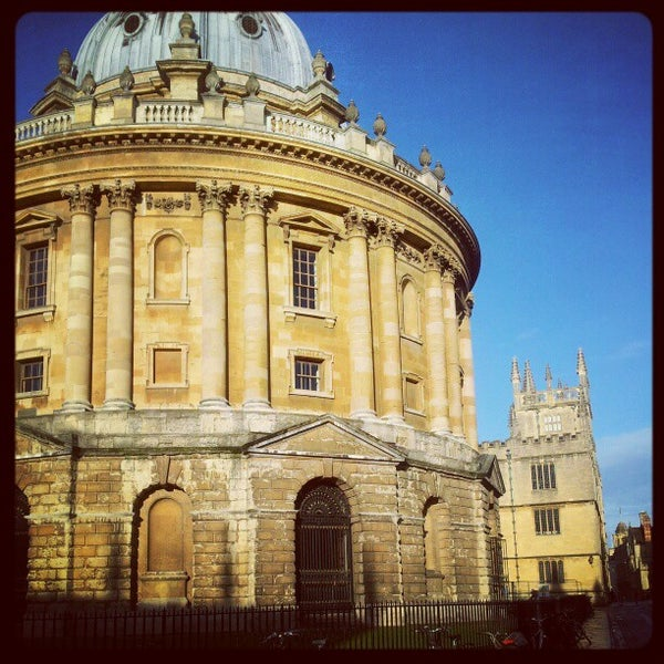 Photo taken at Radcliffe Camera by Chris P. on 12/17/2012