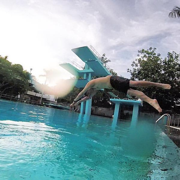 Photo taken at Graha Residence Swimming Pool by Andreas Andrew P. on 5/6/2016
