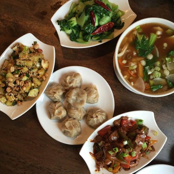 beef momo, cucumber salad, stir fried veg, noodle soup, etc. all so good.