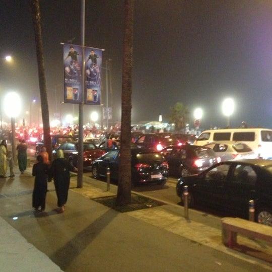 Photo taken at La Corniche de Casablanca by Kemal S. on 10/14/2012