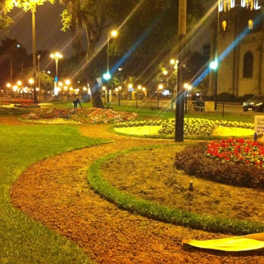 Photo taken at Parque Kennedy by Gustavo A. on 7/9/2012