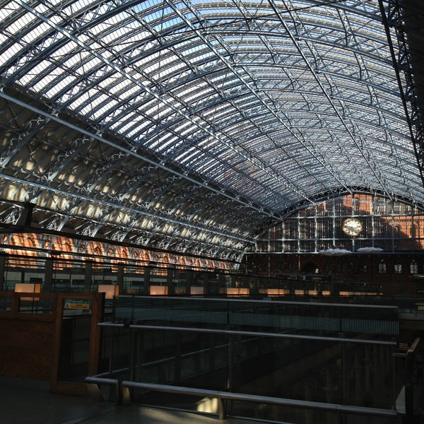 Photo taken at London St Pancras International Railway Station (STP) by Anna M. on 5/4/2013
