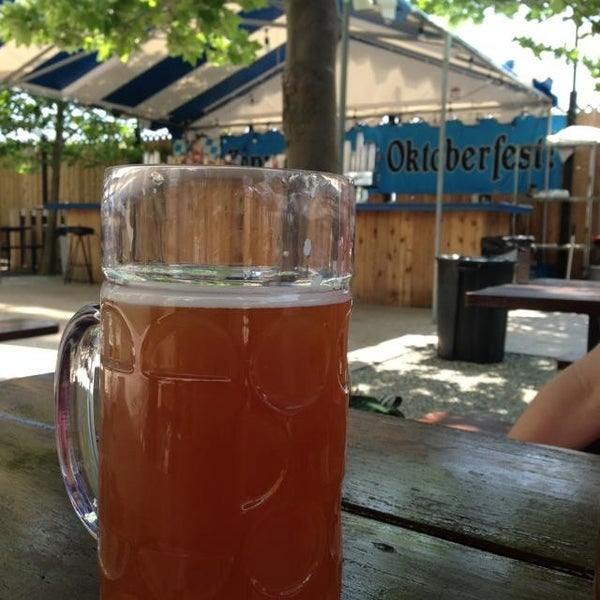 Photo taken at Zeppelin Hall Biergarten by Andrew W. on 6/2/2013