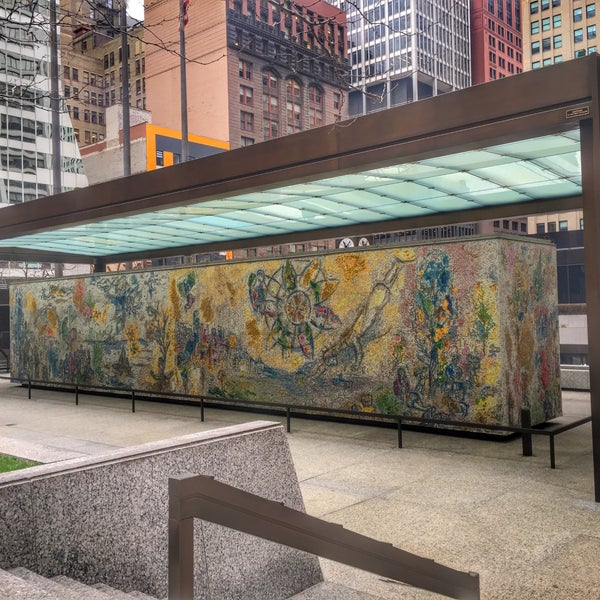 """Photo taken at Chagall Mosaic, """"The Four Seasons"""" by Randy E. on 12/11/2015"""