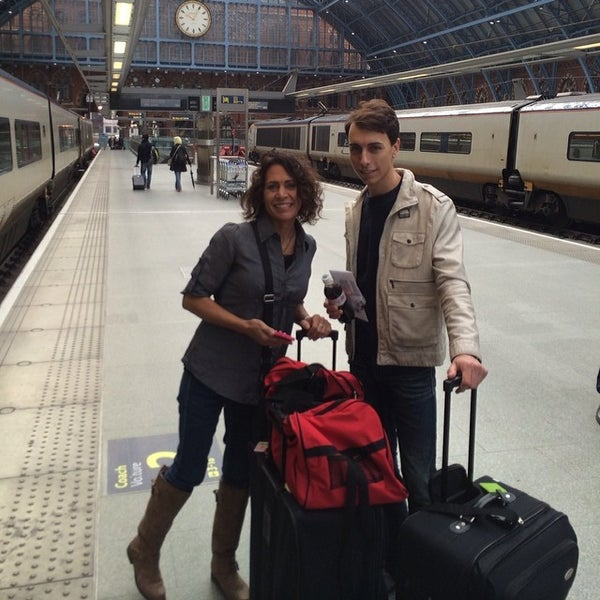 Photo taken at London St Pancras International Railway Station (STP) by Christopher V. on 3/4/2014