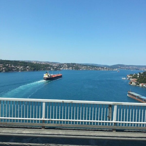 Photo taken at Fatih Sultan Mehmet Bridge by NuR N. on 7/24/2013