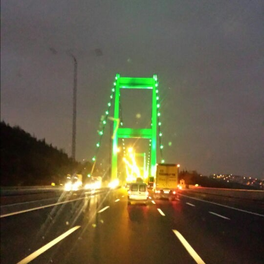 Photo taken at Fatih Sultan Mehmet Bridge by Alime C. on 11/2/2013