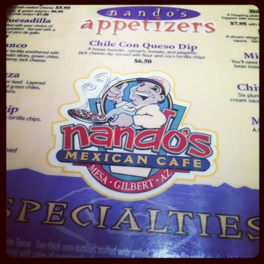 Photo taken at Nando's Mexican Cafe by Jordon H. on 10/16/2012